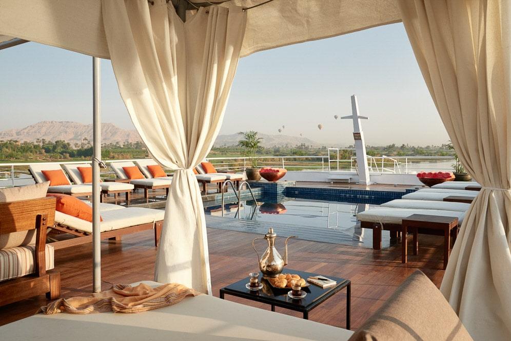 Egypt, The Nile, Sanctuary Nile Adventurer, Sun Deck