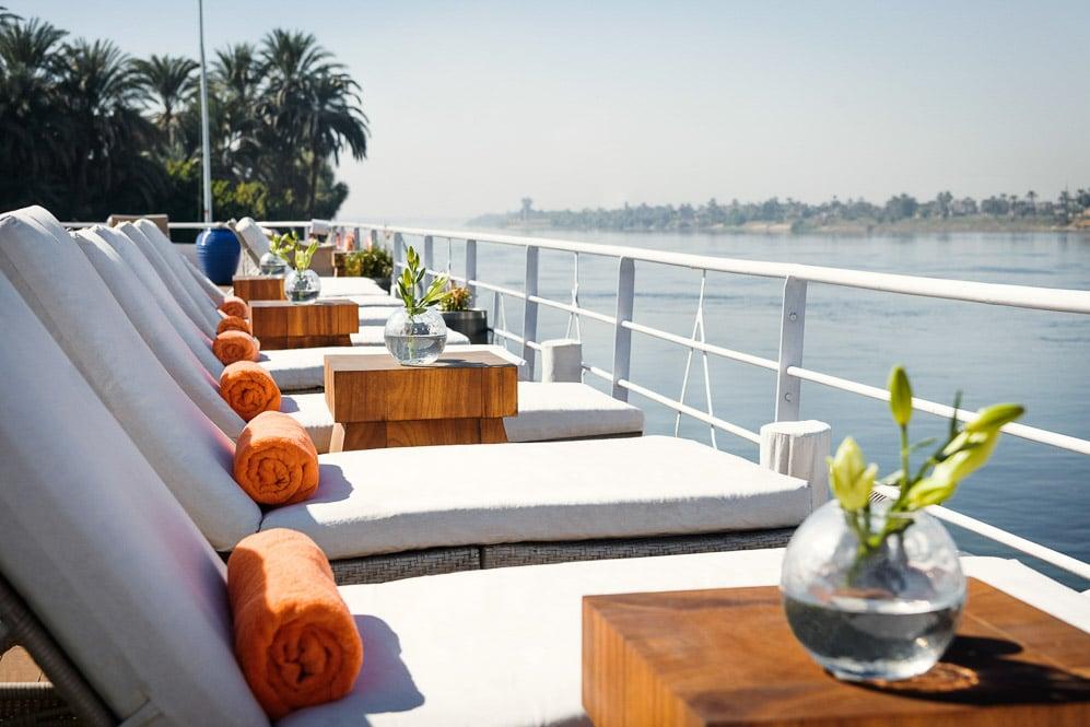 Egypt, Nile River, Sanctuary Sun Boat IV, Sun Deck