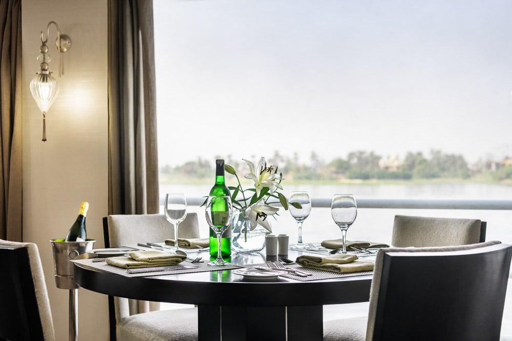 Egypt, Nile River, Sanctuary Sun Boat IV, Restaurant
