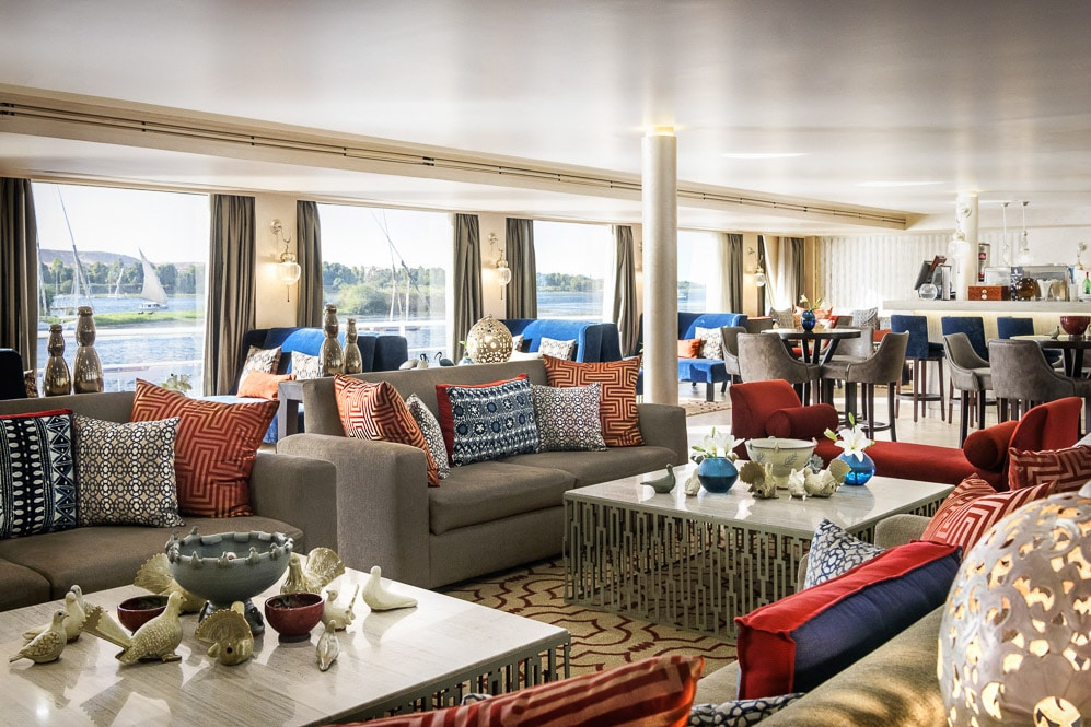 Egypt, Nile River, Sanctuary Sun Boat IV, Lounge