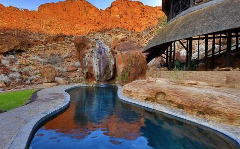 Twyfelfontein Lodge, Morgenlicht, morning light