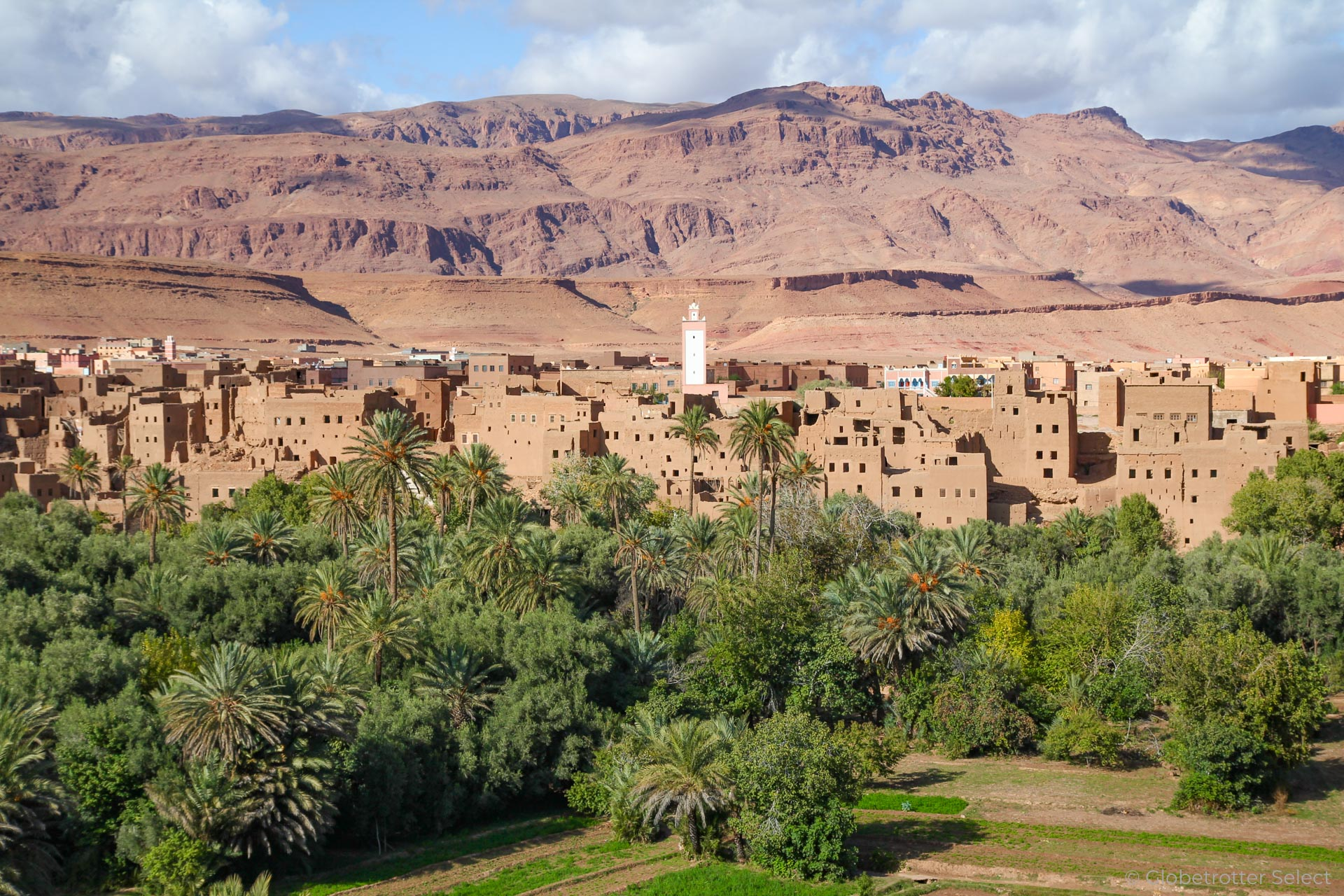 Erfoud an der Strasse der Kasbah in Marokko