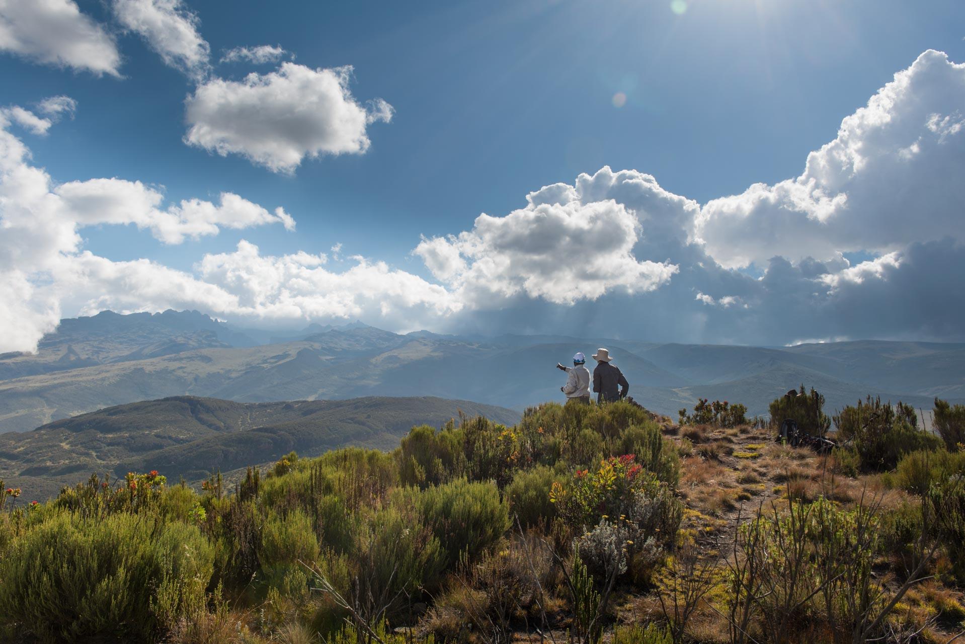 Mount Kenya in Kenia