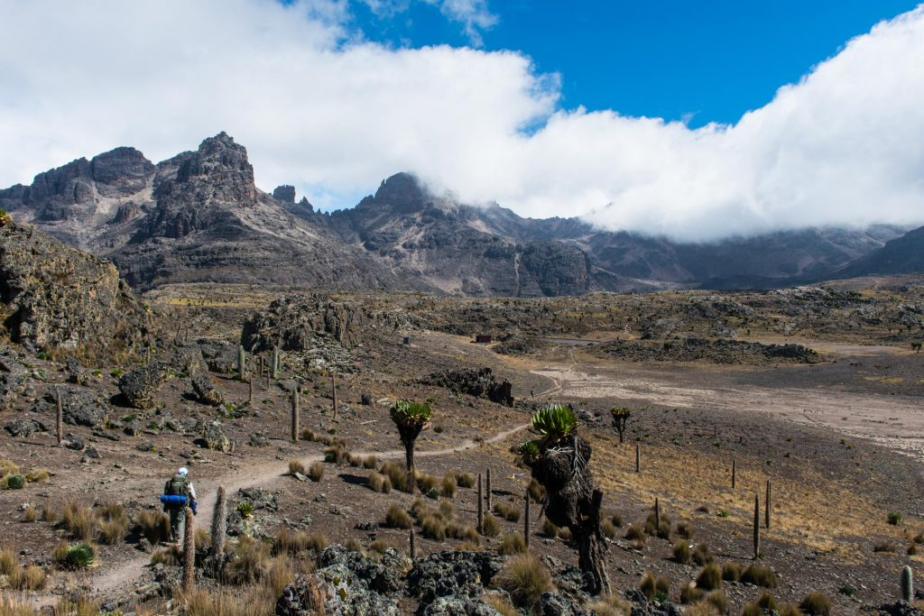 Mount Kenya in Kenia