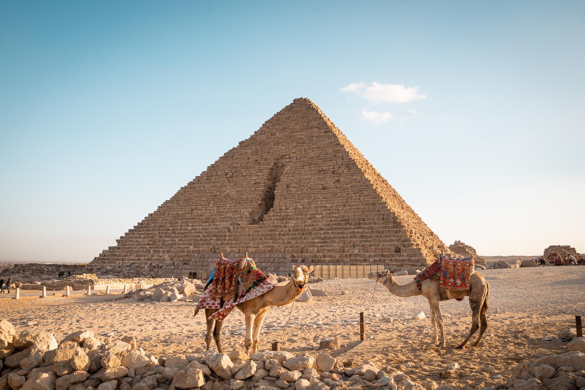 Pyramiden von Gizeh in Ägypten
