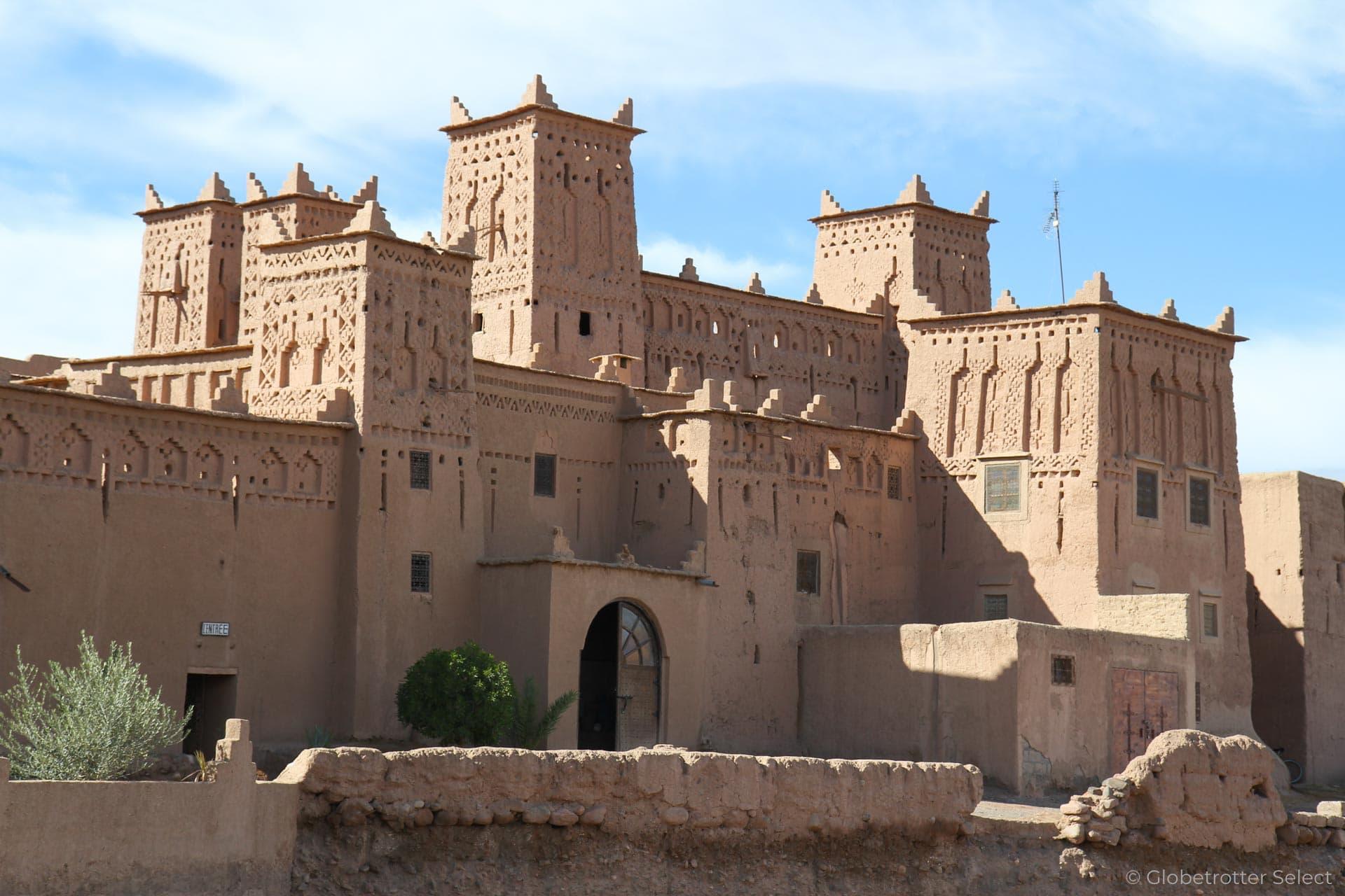 Strasse der Kasbah in Marokko